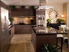contemporary kitchen set in dark grey color white dining furniture modern kitchen appliances designed by Nicole Miller Luxury Kitchen Design, Best Kitchen Designs, Luxury Kitchens, Interior Design Kitchen, Cool Kitchens, Interior Modern, Scandinavian Interior, Beautiful Kitchens, Interior Decorating