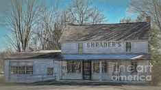 A long closed Grocery and Ice Cream shop still stands in Berlin Center, Ohio, right on Main St. on a crisp March day.