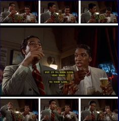 The Bingo Long Traveling All-Stars and Motor Kings (1976) Part III…Charlie Snow aka Carlos Nevada (Richard Pryor) teaching the rookie Esquire Joe Calloway (Stan Shaw) the finer points of drinking