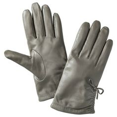Gray leather driving gloves- I just bought these and love them