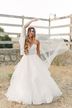 Stunning Veiled Wedding Portrait | K. Holly Photography | Modern Bridal Glam from Hayley Paige and Haute Bride!