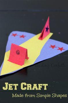 This jet craft is a fun way for boys or girls to practice their scissors skills. Sky Day - Jet - Transportation Craft for Preschool Preschool Themes, Toddler Preschool, Toddler Crafts, Preschool Activities, Motor Activities, Preschool Classroom, Cute Kids Crafts, Crafts For Boys, Helicopter Craft