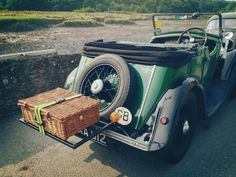 Vintage Morgan car at a vintage car rally in Cresswell, Wales August 2013