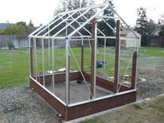 Building and Improving the Harbor Freight Greenhouse : 11 Steps (with Pictures) - Instructables 6x8 Greenhouse, Greenhouse Shelves, Backyard Greenhouse, Greenhouse Ideas, Backyard Sheds, Harbor Freight Greenhouse, Organic Gardening Tips, Back Gardens, Growing Plants