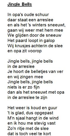"Kerstliedje: ""Jingle bells"" met tekst!"