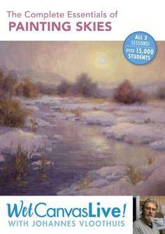 WetCanvas Live: Essentials of Painting Skies with Johannes Vloothius Online Course Downloads   NorthLightShop.com