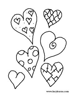Valentine Coloring Pages, Print Valentines Day Coloring Page and