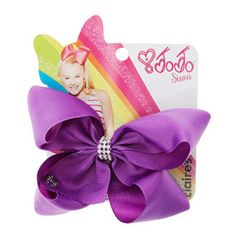 Jojo Siwa Small Rhinestone Keeper Purple Hair Bow