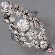 Edwardian Platinum Engagement Ring oldnewborrowedblue