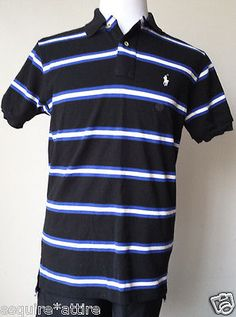 men casual shirts for sale : #POLO Ralph Lauren men size M short sleeve POLO shirt blue stripes RalphLauren withing our EBAY store at  http://stores.ebay.com/esquirestore