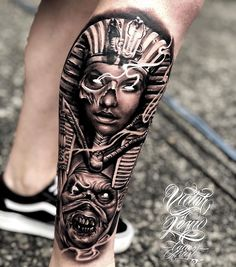 Egypt Pharao dope realistic tattoo😁 visit pic link is part of Skull Compass tattoos Design - Skull Compass tattoos Design Egyptian Eye Tattoos, Egyptian Tattoo Sleeve, Skull Sleeve Tattoos, Leg Sleeve Tattoo, Best Sleeve Tattoos, Tattoo Sleeve Designs, Egyptian Goddess Tattoo, Forarm Tattoos, Leg Tattoos