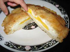 Arepa de huevo por dentro