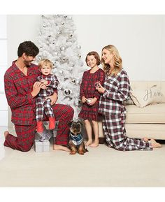 8f9516cc09 Plaid family pajamas.Holiday decor inspiration with plaid