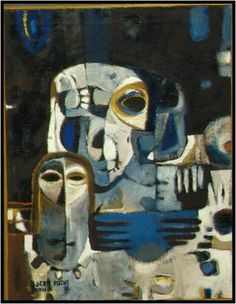 Bocar Pathé Diong (Senegal 1946-1989), L'Offrande, late 1960s/early 1970s. Donated by Leopold Senghor. Collection Afrika Museum.
