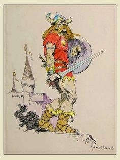 Cap'n's Comics: Norseman by Frank Frazetta