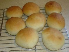 Fantastic buns... these are a staple in my home - always have been, always will be.  Can also make them and brush butter then cover with cinnamon and sugar after you put on pans to rise - we love them with jam, toasted with cheese whiz (yes i know healthy! LOL) but traditionally they were part of sunday light super (faspa) with homemade fruit jams or butter and fresh cheddar from the New Bothwell cheese factory.  the best!