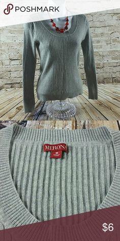 Womens V Neck Sweater Size Medium Womens Long Sleeve V Neck / Low neck Sweater Merona Sweaters Crew & Scoop Necks