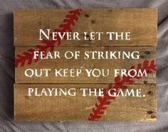 Never Let the Fear of Striking Out pallet project