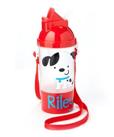 Look what I found on #zulily! Red Puppy Personalized Bottle & Container Set by Ellery's Designs #zulilyfinds