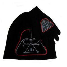 Star Wars Darth Vader Knit Beanie Hat Gloves Black Set Junior Unisex One  Size 650e0e948