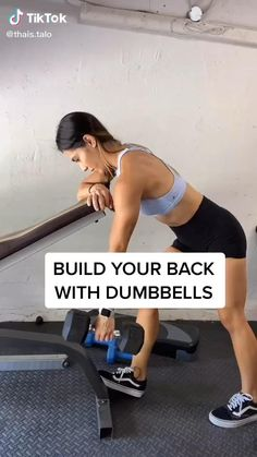 Fitness Workouts, Gym Workout Videos, Fitness Workout For Women, Body Fitness, At Home Workouts, Back Fat Workout, Back Workouts With Dumbbells, Upper Back Workouts, Upper Body Workout Gym