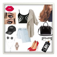 """""""M30"""" by natashaemy on Polyvore featuring Boohoo, Lime Crime, pinkage, Sandy Liang, Givenchy, Christian Louboutin, Charlotte Russe, ZeroUV, Bling Jewelry and Rolex"""