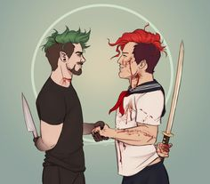 """cinnamon-grump: """"A dangerous duo… no good can come from this."""