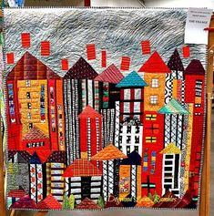I like all Freddy Moran's colorful quilts. I love the whimsy and details, especially the brights with black, white, and gray.