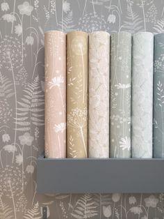 Hannah Nunn wallpaper - All About Accent Wallpaper, Wallpaper Roll, Wall Wallpaper, Living Room Wallpaper Accent Wall, Cottage Art, Cottage Living Rooms, Fairytale Cottage, Modern Cottage, Cottage Interiors