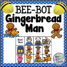 Are you ready to code with kids? This product is designed to be used with a programmable BEE BOT robot. It's the perfect addition to your holiday gingerbread center. A fun activity to re-tell the Gingerbread Man Story and identify the characters from the story.