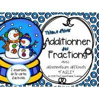 Cartes à tâches : Additionner des fractions (2)
