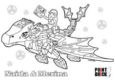 Disegni da Colorare LEGO Elves - Naida e Merina il drago - Clicca sull'immagine per scaricarla gratuitamente!