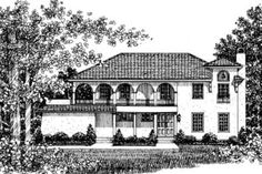 Mediterranean Style House Plan - 3 Beds 3.50 Baths 2172 Sq/Ft Plan #12-238 Exterior - Front Elevation - Houseplans.com