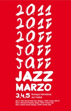 Creative Type, Baubauhaus, Print, and Typography image ideas & inspiration on Designspiration Typography Images, Typography Inspiration, Typography Letters, Creative Inspiration, Lettering, Jazz Festival, Festival Posters, Managua, Jazz Poster