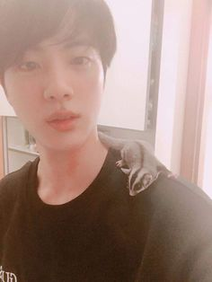 😍😘❤😄  Jin and his little cute friend  Thank you so much for the feature 😍 It's my first time be