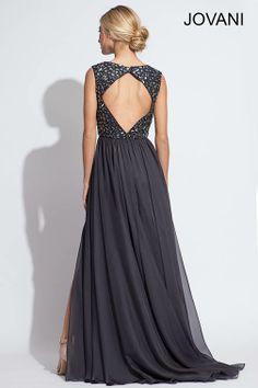 Open back Jovani chiffon prom gown