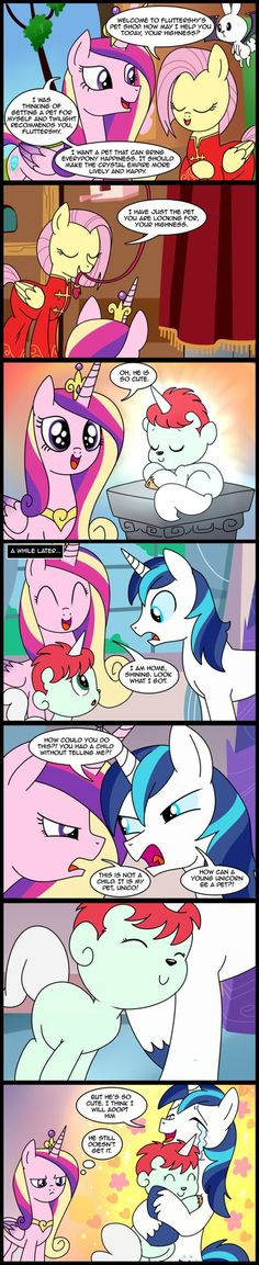 Art by Princess Celestia has gotten herself a new pet and Princess Luna wants one as well...