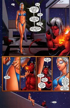 Ravager is too much of a bad girl for a half demon boy.