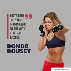 Quotes from inspiring female athletes like Ronda Rousey- click for more motivation