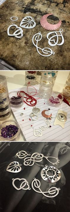 New handmade silver jewellery designs being tested and refined: by Simone Walsh.