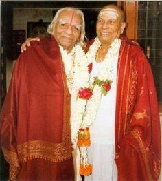 Guruji with Mr. Iyengar