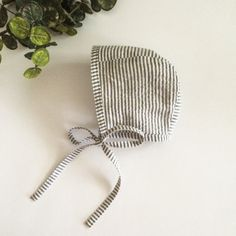 Hey, I found this really awesome Etsy listing at https://www.etsy.com/listing/238432357/cotton-baby-bonnet-charcoal-and-white