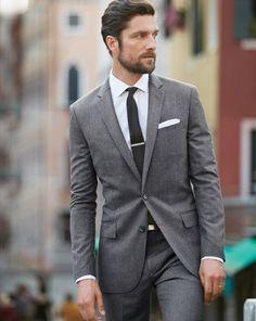 J.Crew Ludlow suit in Italian wool flannel.