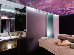 Hôtel Aigle des Neiges **** à Val d'Isère (Maranatha Hotels) - Deep Nature Spa Val D'isère, Spa, Bathroom Lighting, Mirror, Deep, Furniture, Nature, Home Decor, Eagle