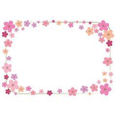 フリーイラスト, ベクター画像, EPS, 背景, フレーム, 囲みフレーム, 植物, 花, 桜(サクラ), 春