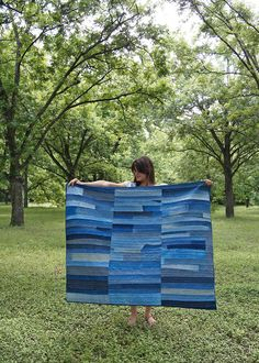 Folk Fibers designs us a denim patchwork quilt so we never have to say goodbye to our fave jeans