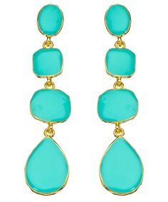 I can't get enough of turquoise earrings; $90.