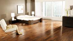 Planchers de bois franc Preverco - Chambre à coucher – Noyer, Nuance