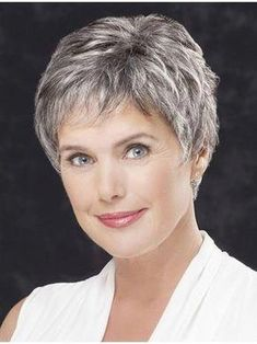 Lace Front Straight Cropped Grey Hair Wigs (SKU: – Short Wigs – Wigs – Daily Posts for Women Short Hair Over 60, Short Grey Hair, Short Hair Wigs, Short Hair With Layers, Human Hair Wigs, Black Hair, Hair Styles For Women Over 50, Short Hair Cuts For Women, Short Hairstyles For Women
