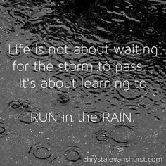 People who see me probably think I'm crazy. but there is something about running in the rain that makes you feel so alive and refreshed. I Love To Run, Why I Run, Just Run, Running In The Rain, Keep Running, Trail Running, Running Club, Running Tips, Quotes To Live By